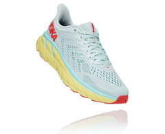 HOKA ONE ONE W CLIFTON 7 1110509 MORNING MIST / HOT CORAL 2021