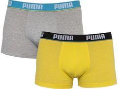 Трусы Puma Basic Trunk 2-pack light gray/yellow 521025001 006