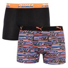 Трусы Puma Logo AOP Boxer 2-pack black/orange/blue 501003001 030