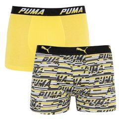 Трусы Puma Logo AOP Boxer 2-pack yellow/gray 501003001 020
