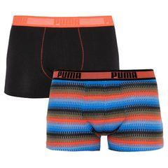 Трусы Puma Worldhood Stripe Trunk 2-pack black/red/blue 501004001 030