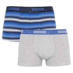 Трусы Puma Worldhood Stripe Trunk 2-pack gray/blue 501004001 010