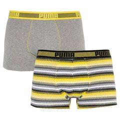 Трусы Puma Worldhood Stripe Trunk 2-pack gray/yellow 501004001 020